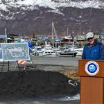 New Valdez Harbor Groundbreaking on April 24, 2015