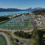 East view of the Valdez Small Boat Harbor