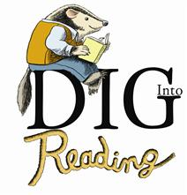 Dig into reading logo