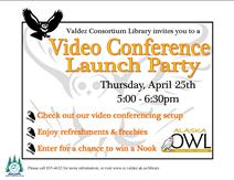 Poster for Video Conference Launch Party