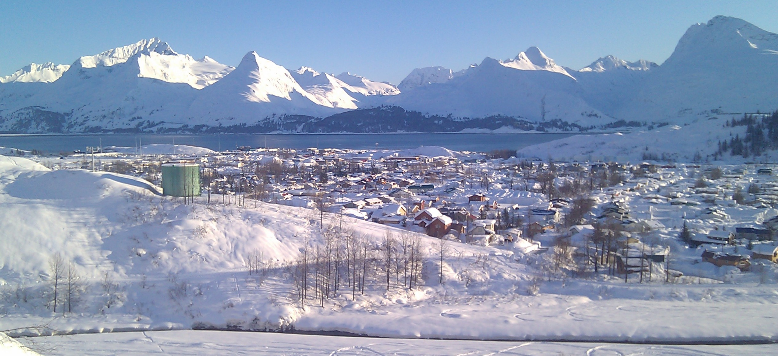 View of Valdez looking south. Sunny Day!