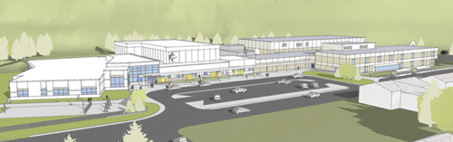 Gilson Middle School Concept Drawing Aerial View